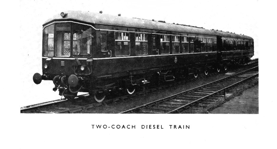 Two coach diesel train