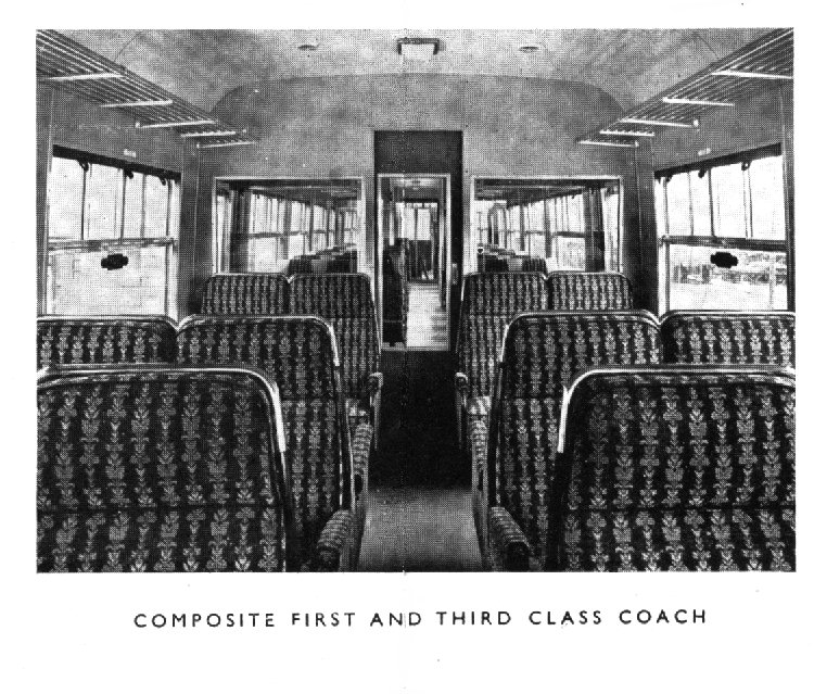 Composite first and third class coach