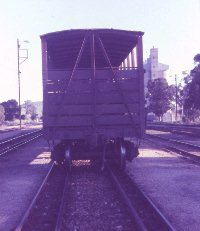 Livestock truck on triple gauge